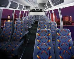 32 Passenger Shuttle Interior Minicoach